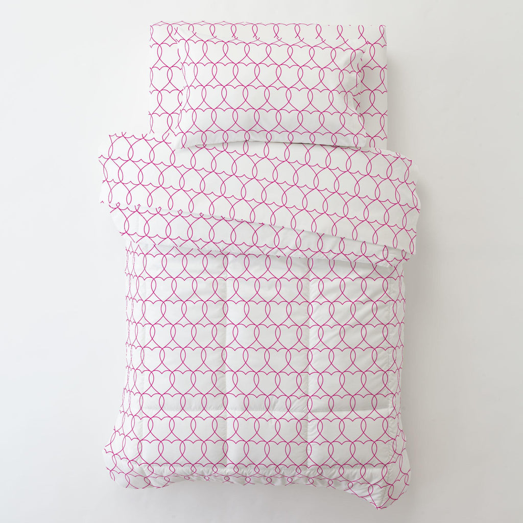 Product image for Fuchsia Sweetheart Toddler Pillow Case