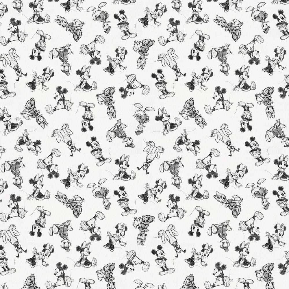 Product image for Disney© Charcoal Mickey and Friends Fabric