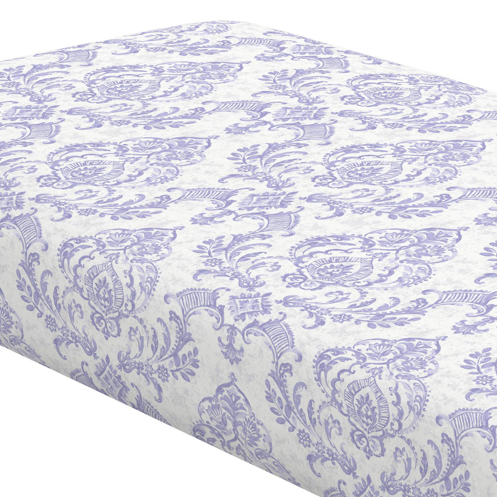 Product image for Lilac Painted Damask Crib Sheet