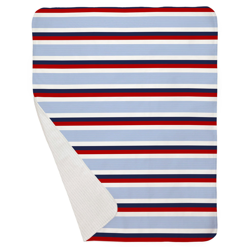 Product image for Red and Blue Stripe Baby Blanket
