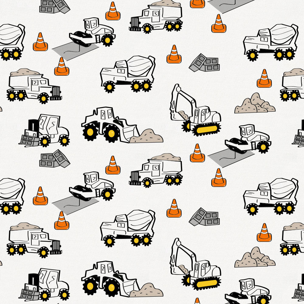 Product image for Construction Trucks Crib Skirt Gathered