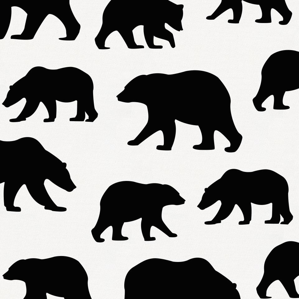 Product image for Onyx Bears Crib Skirt Single-Pleat