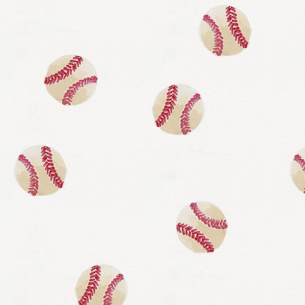 Product image for Watercolor Baseball Mini Crib Bumper