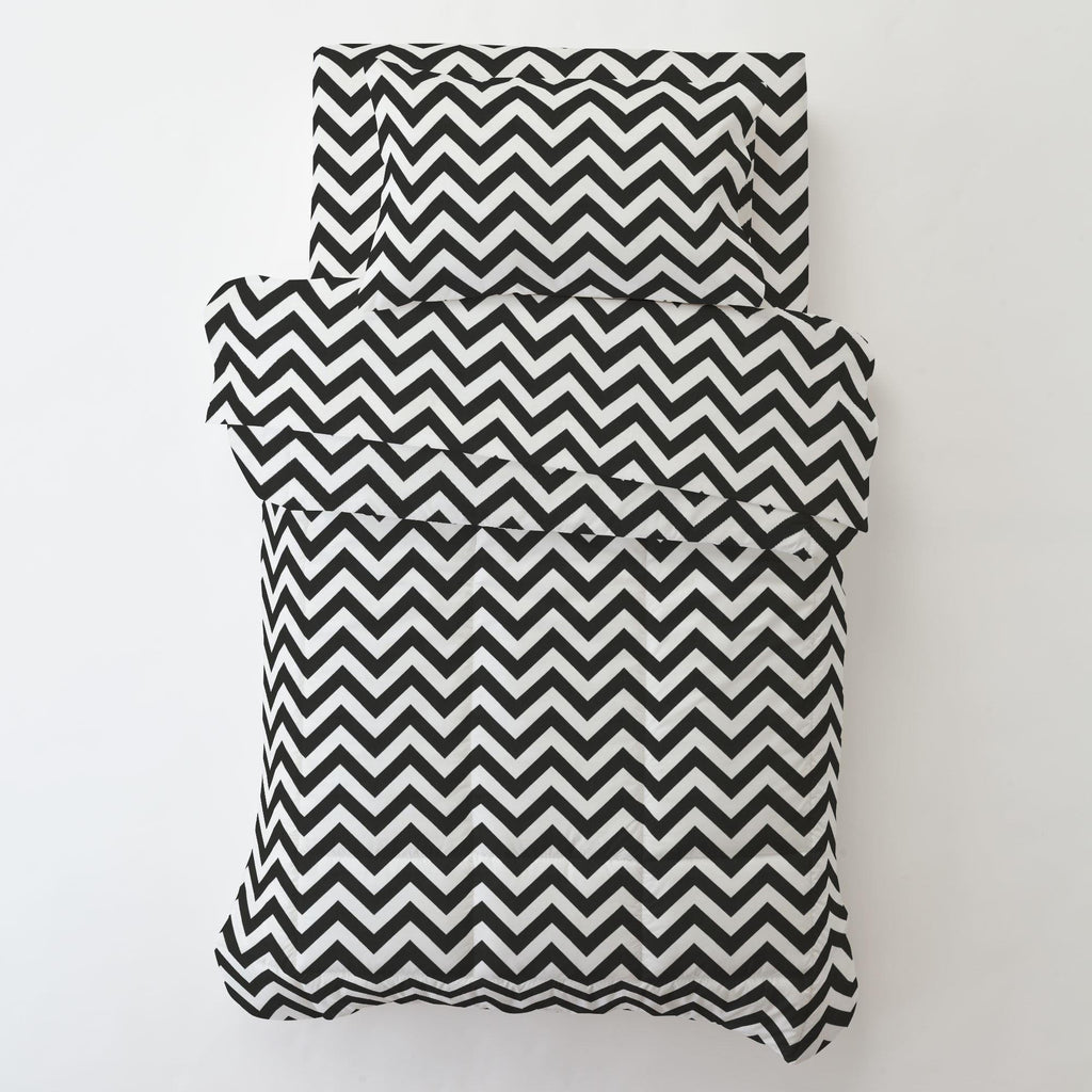 Product image for Black and White Zig Zag Toddler Pillow Case