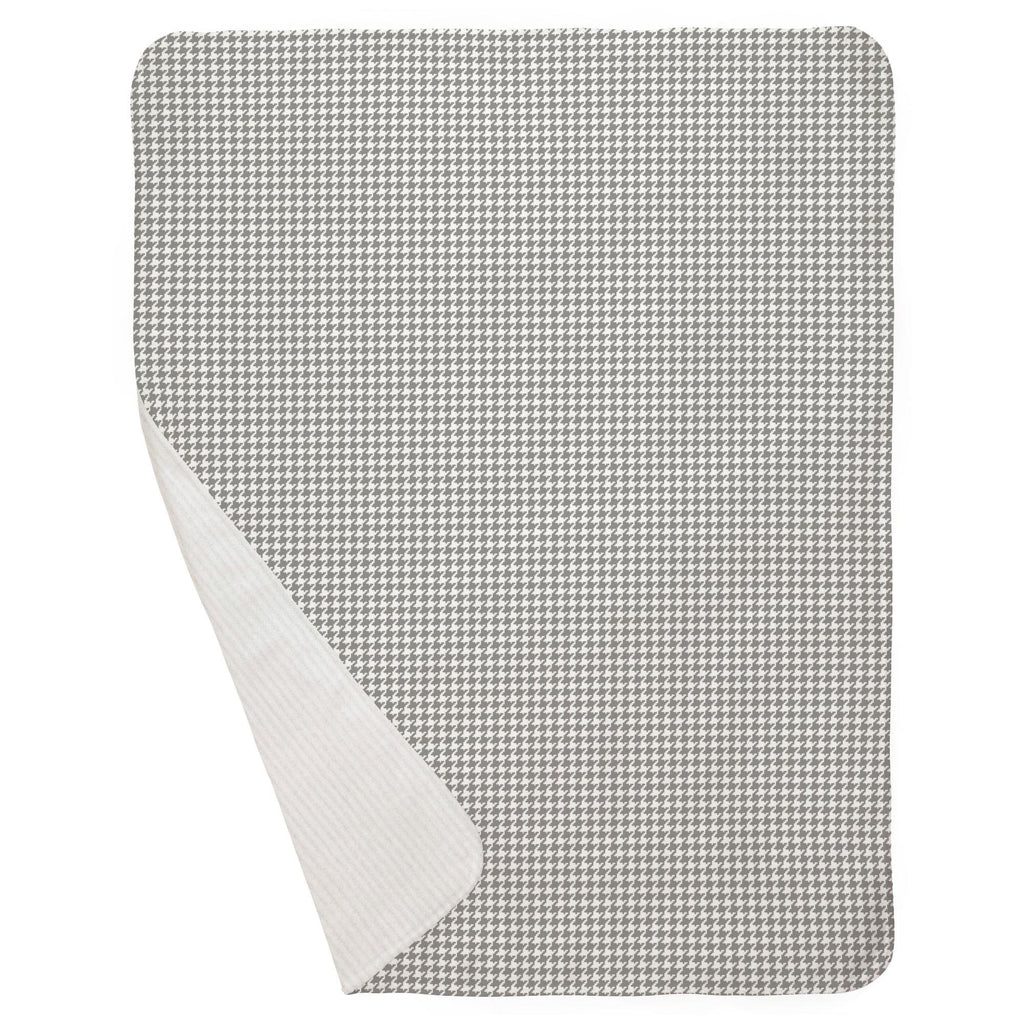 Product image for Cloud Gray and White Houndstooth Baby Blanket