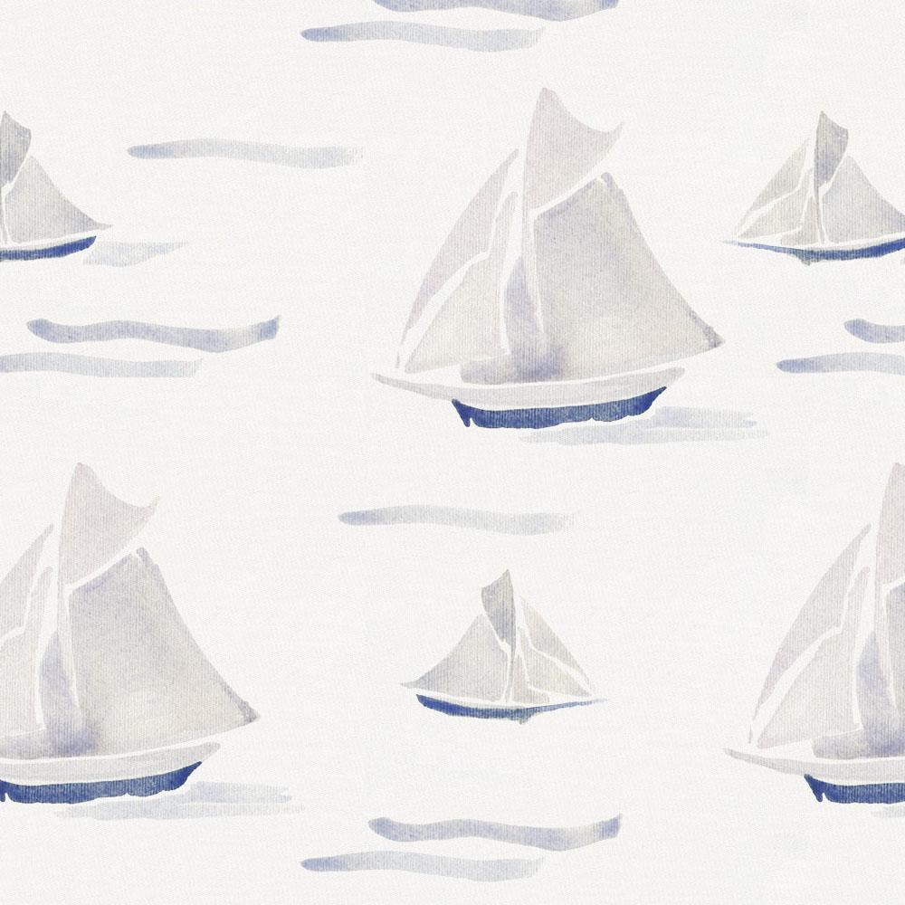 Product image for Watercolor Sailboats Crib Skirt Single-Pleat