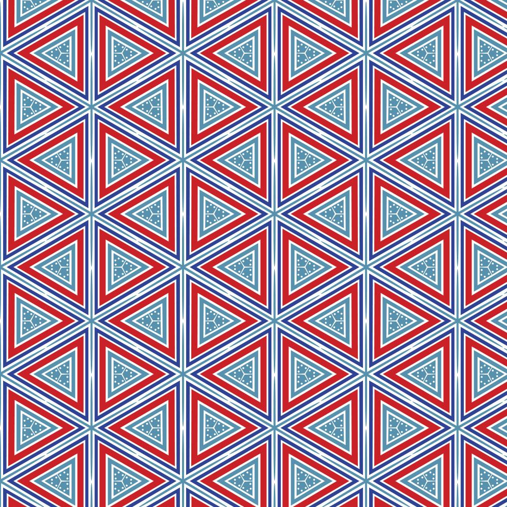 Product image for Red Nautical Triangles Toddler Sheet Bottom Fitted