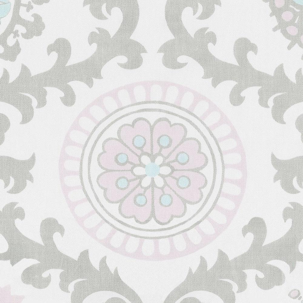 Product image for Pink and Gray Rosa Window Valance Tab-Top