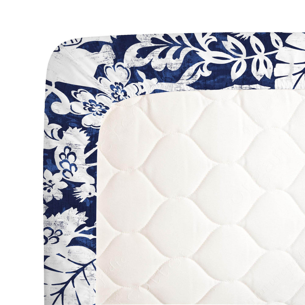 Product image for Navy and White Jungle Crib Sheet