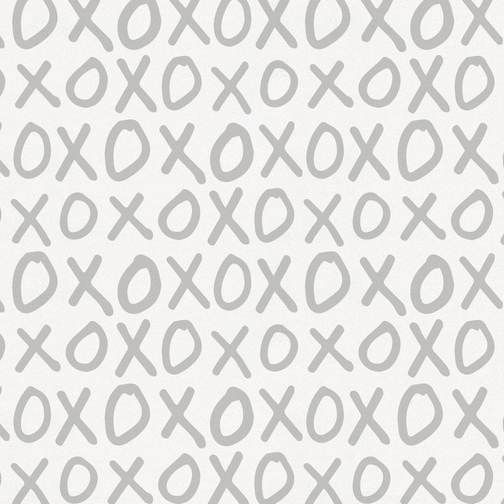 Product image for Silver Gray XO Toddler Pillow Case