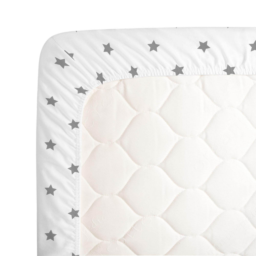 Product image for Cloud Gray Stars Crib Sheet