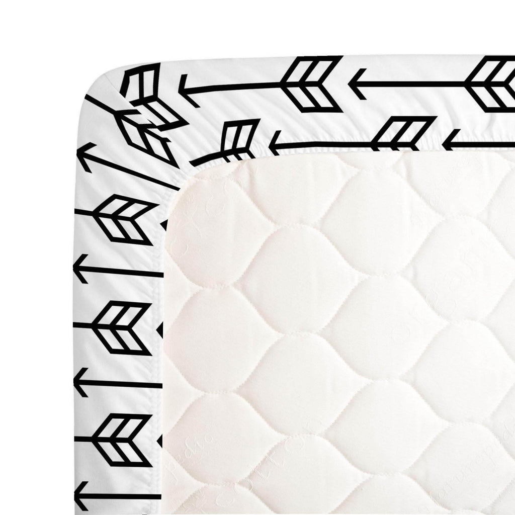 Product image for Black Arrow Crib Sheet