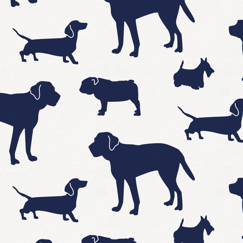 Product image for Navy Dogs Toddler Sheet Bottom Fitted