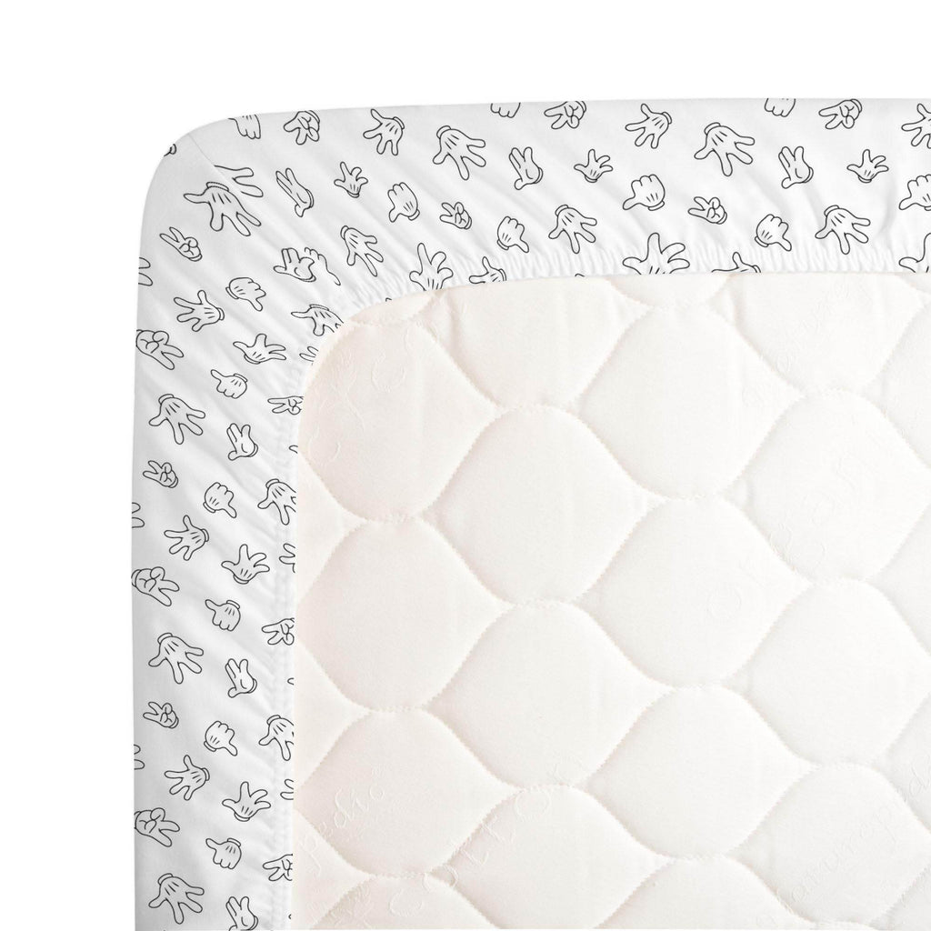 Product image for Disney© Onyx Mickey Gloves Crib Sheet