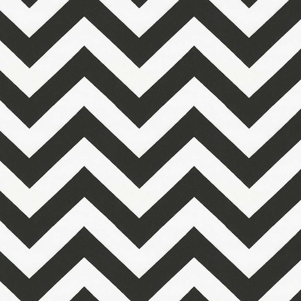 Product image for Black and White Zig Zag Toddler Sheet Bottom Fitted
