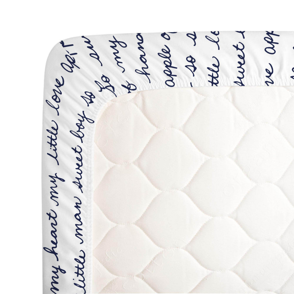 Product image for Navy Sweet Boy Crib Sheet