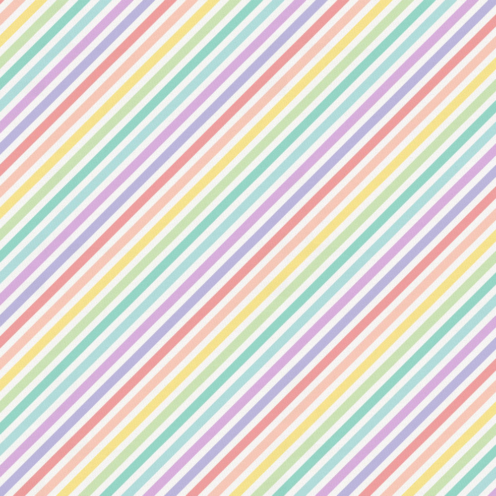 Product image for Pastel Rainbow Stripe Toddler Sheet Bottom Fitted