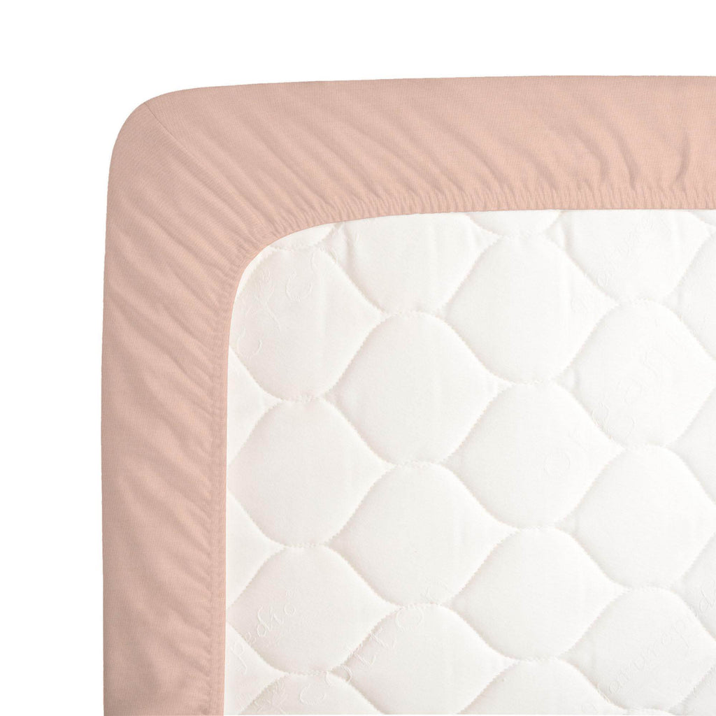 Product image for Solid Peach Crib Sheet