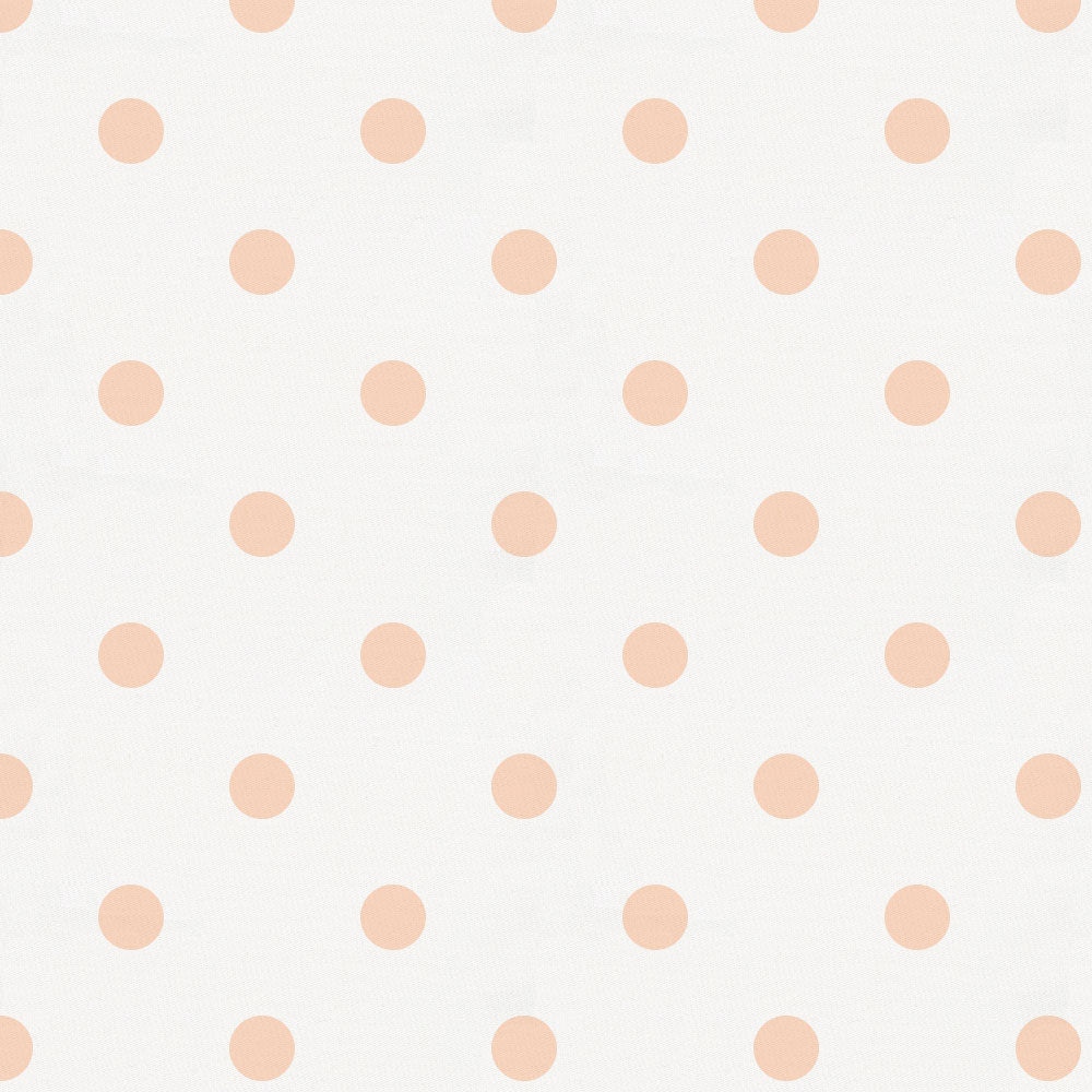 Product image for White and Peach Dot Toddler Sheet Bottom Fitted
