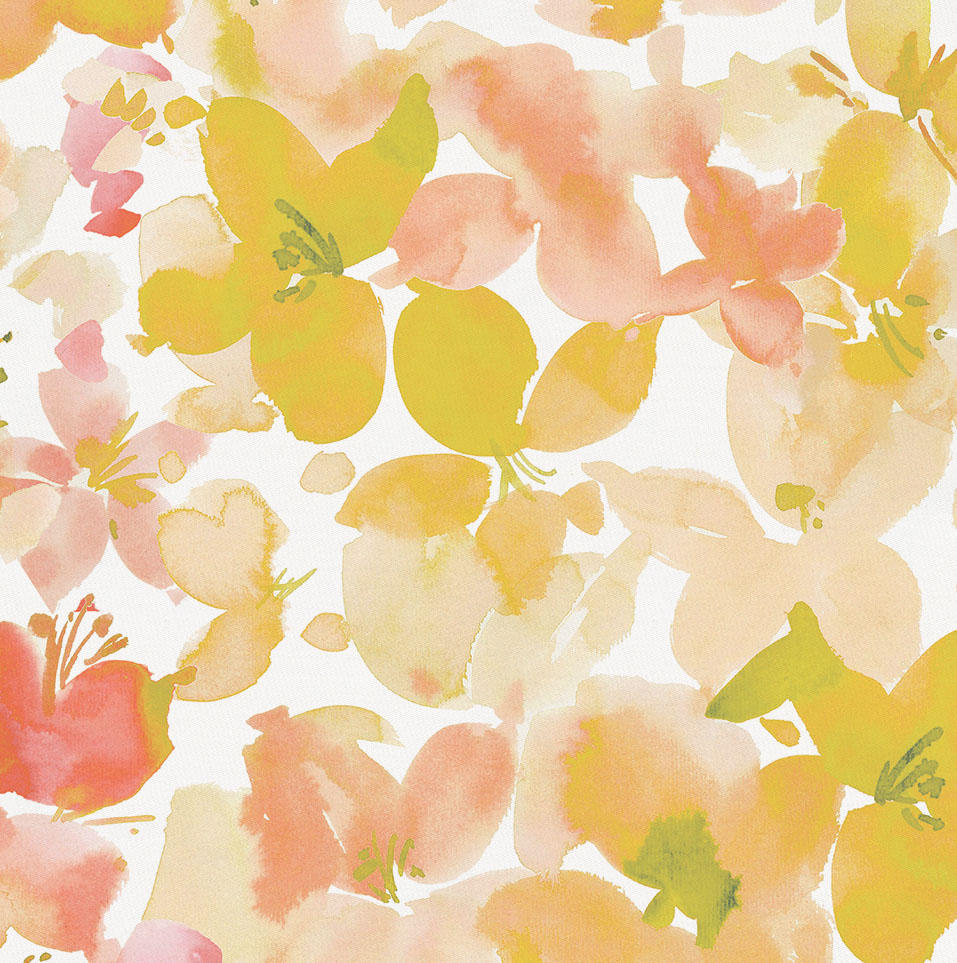 Product image for Peach and Sage Floral Toddler Sheet Bottom Fitted