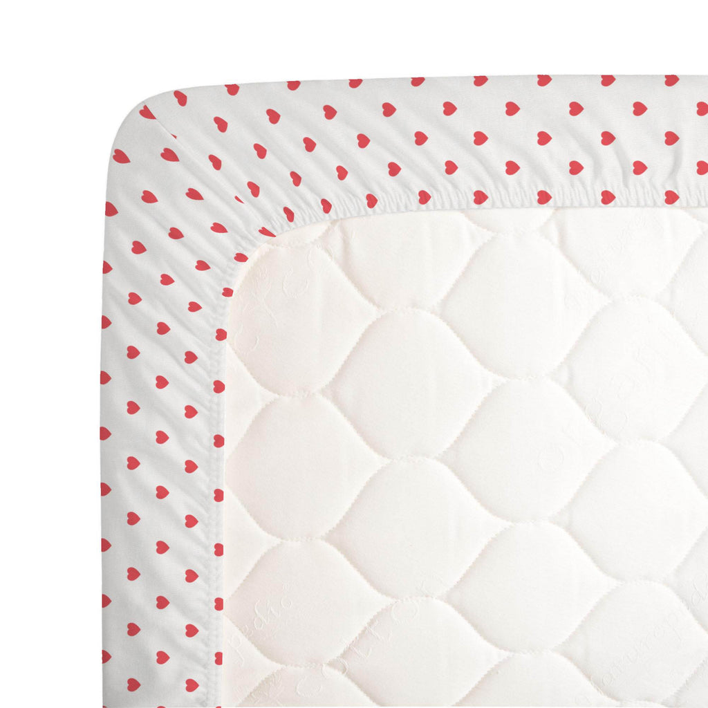 Product image for Coral Hearts Crib Sheet