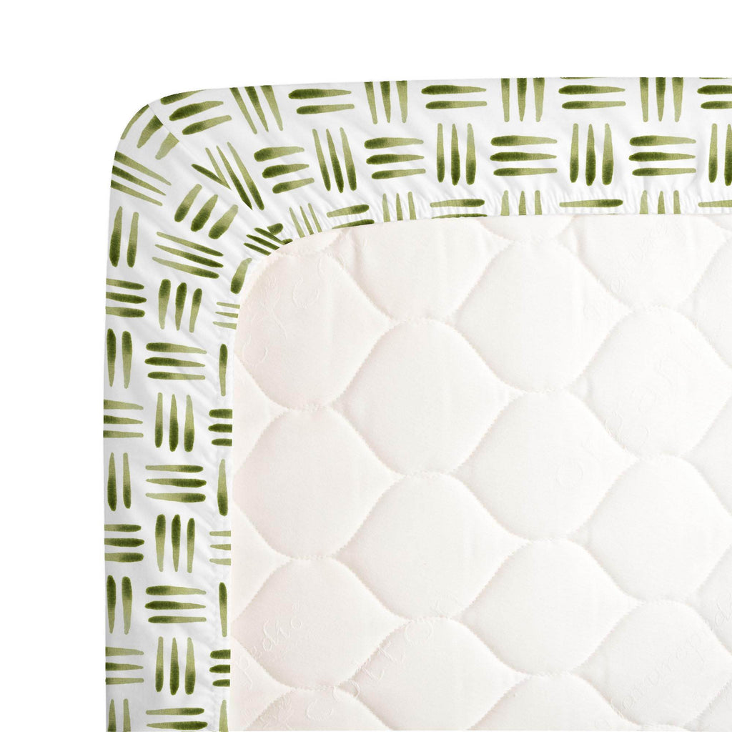 Product image for Sage Basket Crib Sheet