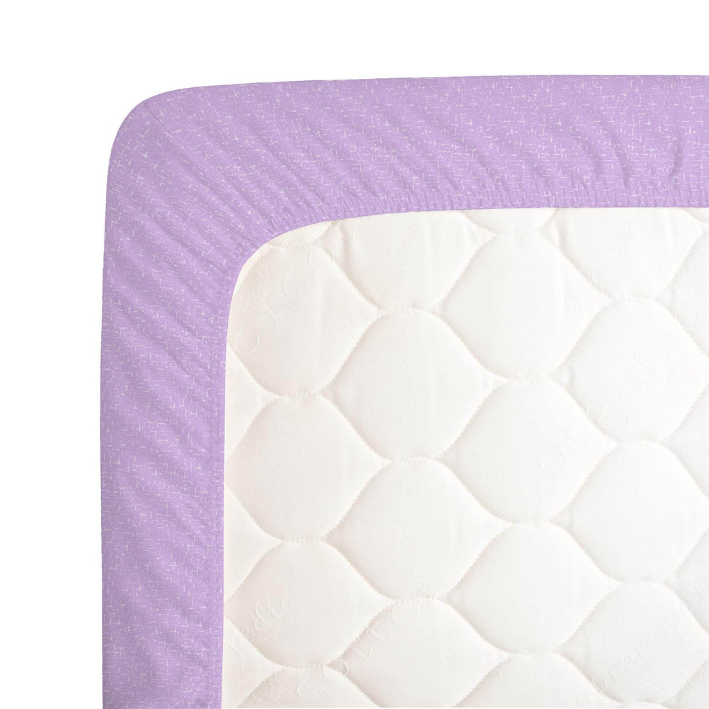Product image for Pastel Purple Heather Crib Sheet