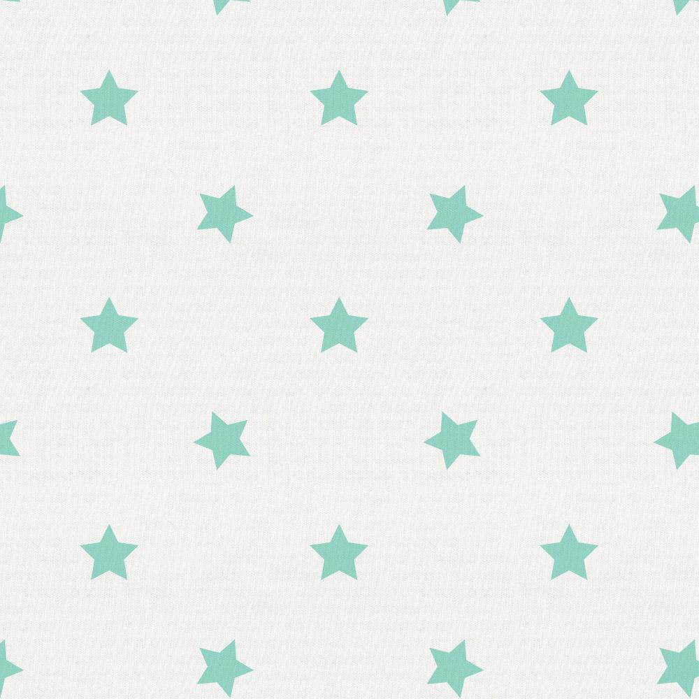 Product image for Mint Stars Toddler Sheet Bottom Fitted