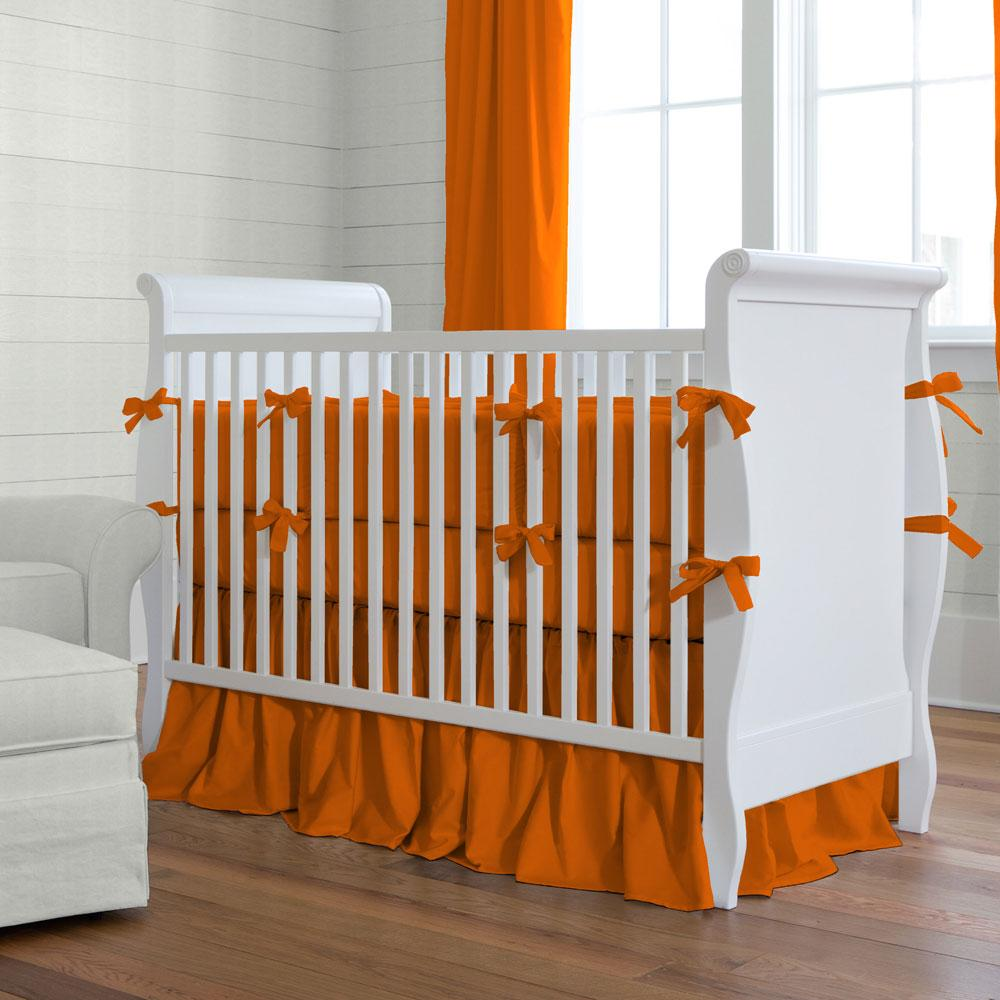 Product image for Solid Orange Crib Rail Cover