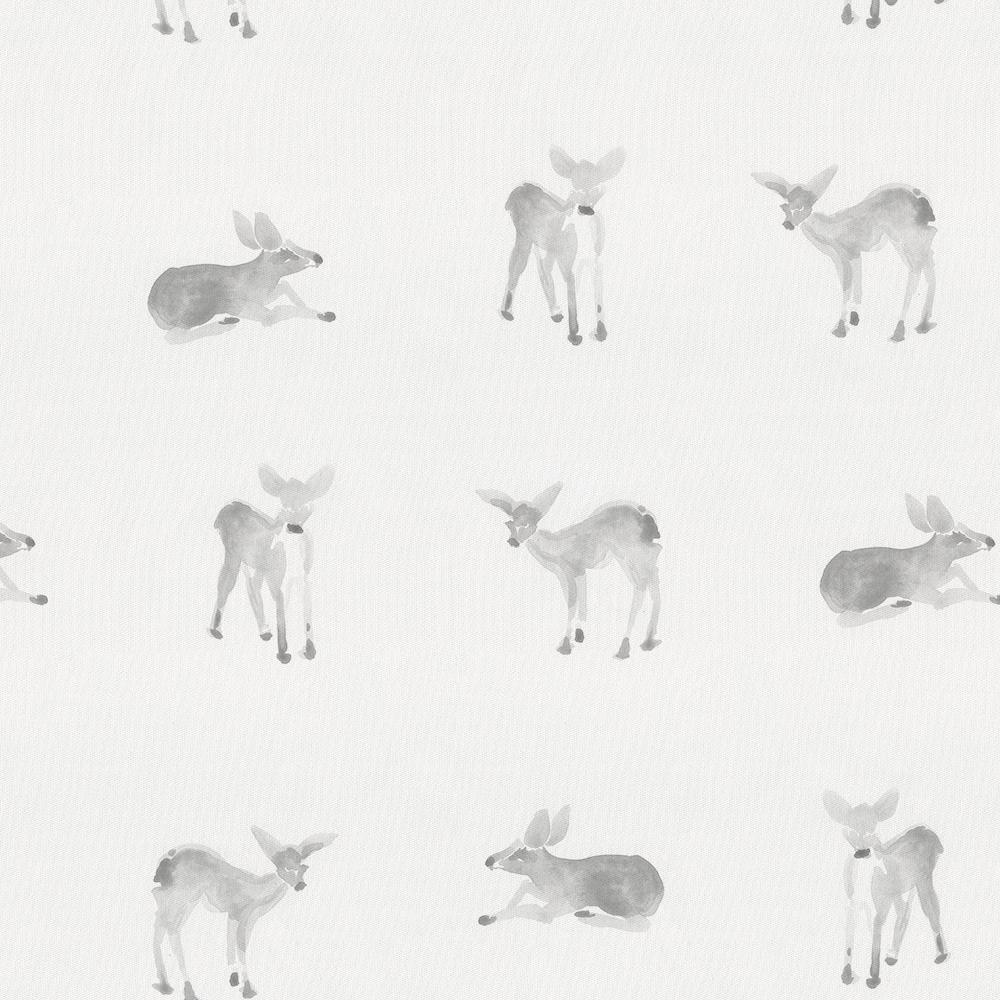 Product image for Silver Gray Fawns Toddler Sheet Bottom Fitted