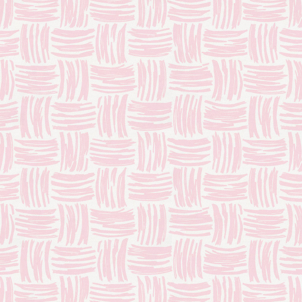 Product image for Pink Basket Weave Toddler Sheet Bottom Fitted