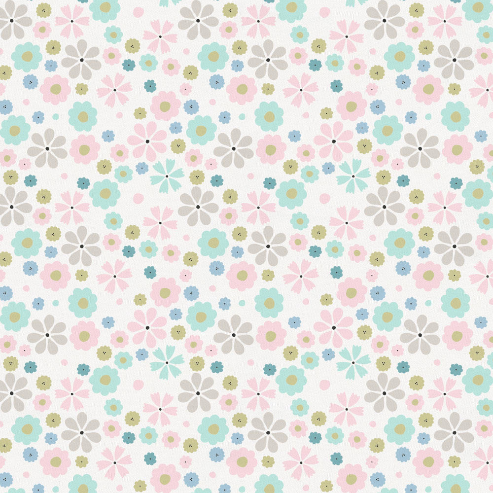 Product image for Pink Spring Flowers Toddler Sheet Bottom Fitted
