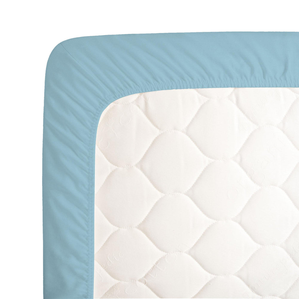 Product image for Solid Lake Blue Crib Sheet
