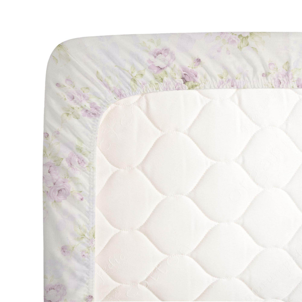 Product image for Lavender Floral Crib Sheet