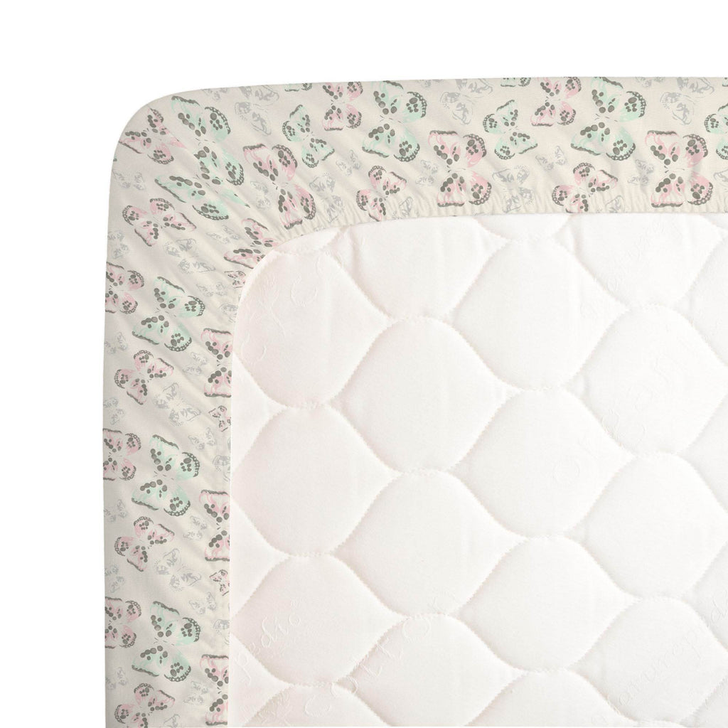 Product image for Blush and Ivory Butterfly Crib Sheet