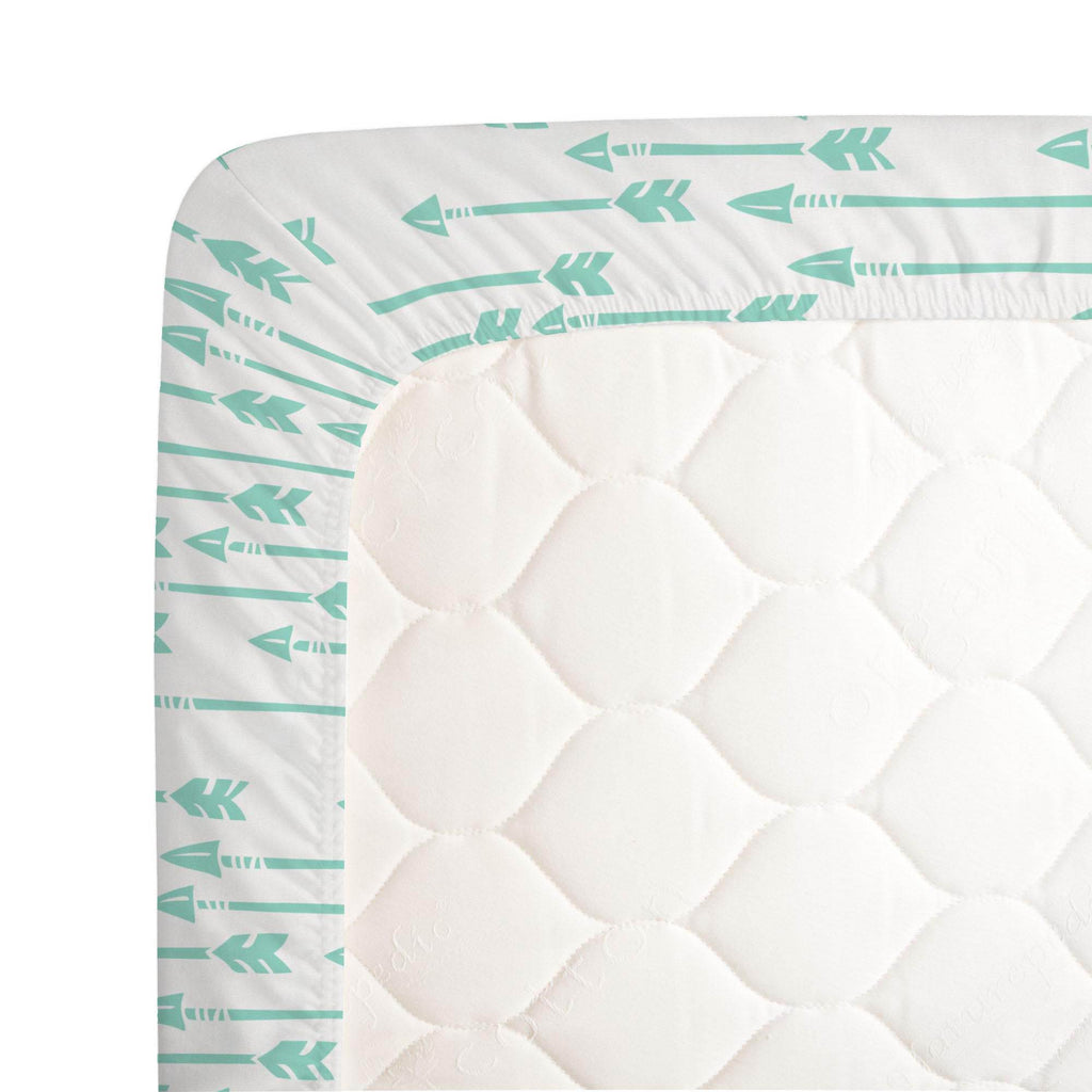 Product image for Mint Flying Arrow Crib Sheet