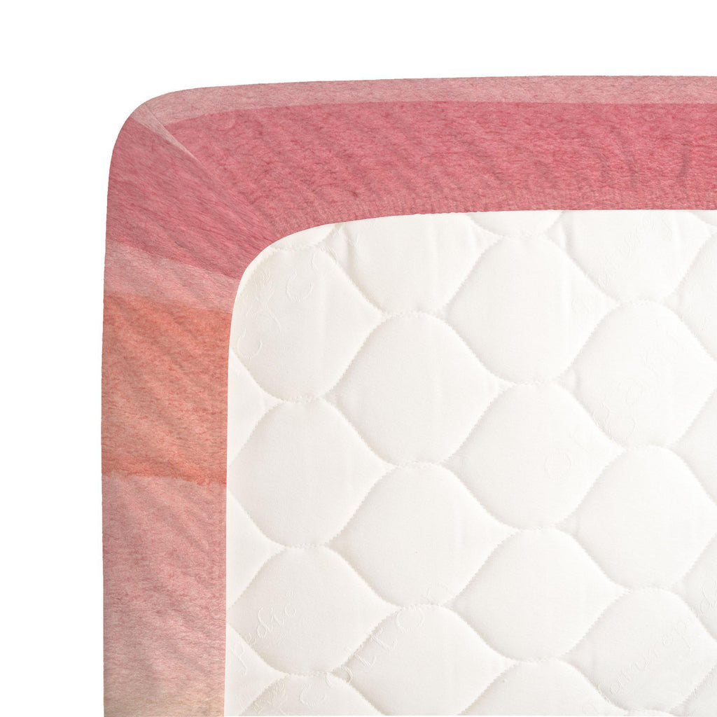 Product image for Coral Stripe Centerpiece Crib Sheet