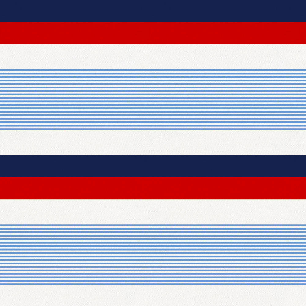 Product image for Red and Blue Stripe Toddler Sheet Bottom Fitted