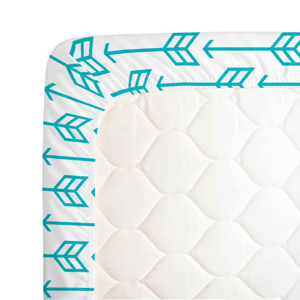 Product image for Teal Arrow Crib Sheet