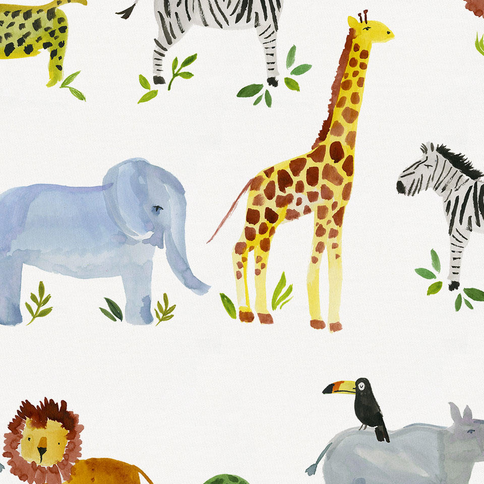 Product image for Painted Zoo Crib Comforter with Piping