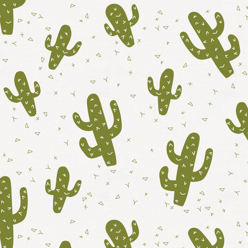 Product image for Sage Cactus Toddler Sheet Bottom Fitted