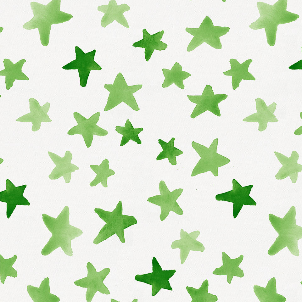 Product image for Green Watercolor Stars Toddler Sheet Bottom Fitted