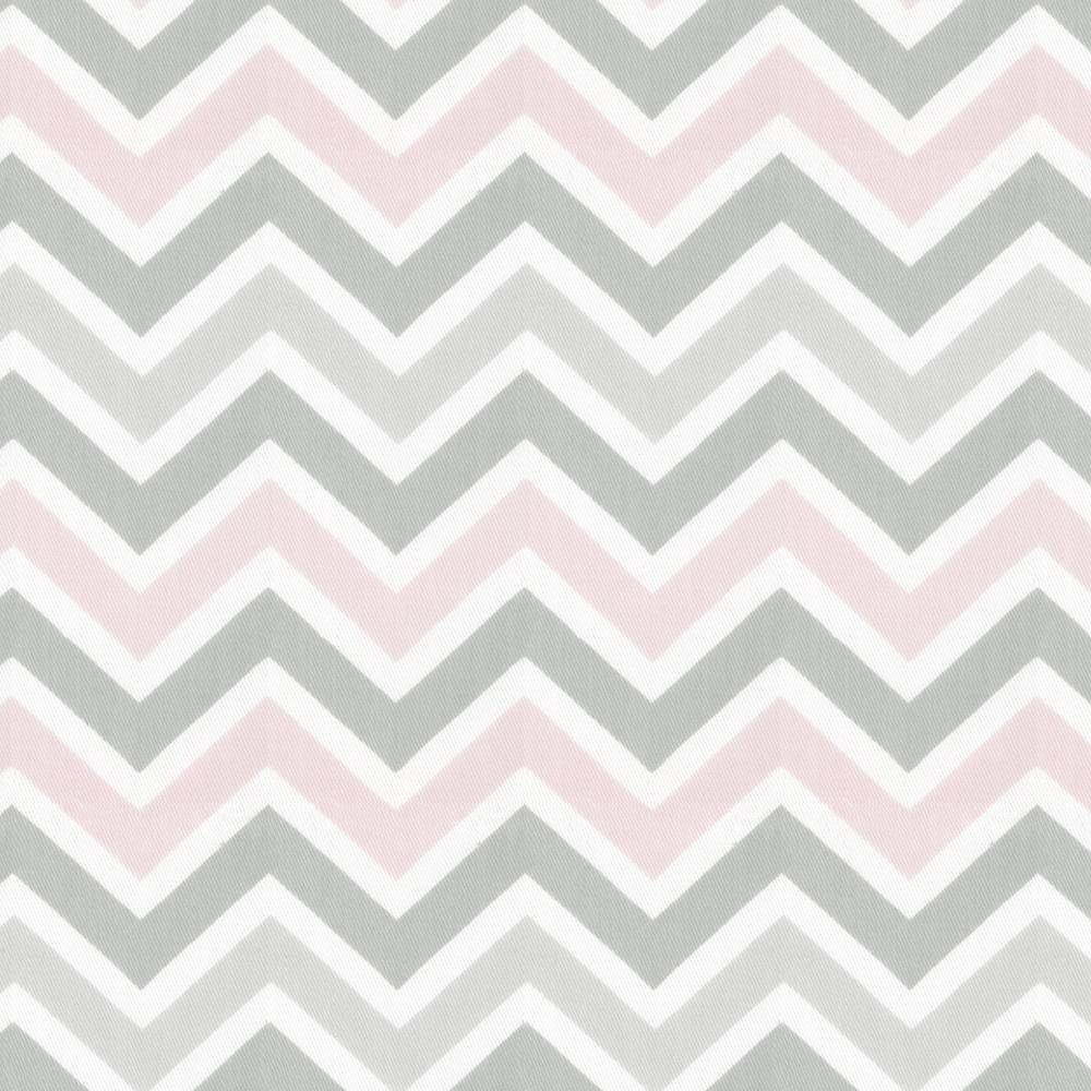 Product image for Pink and Gray Chevron Crib Comforter with Ruffle