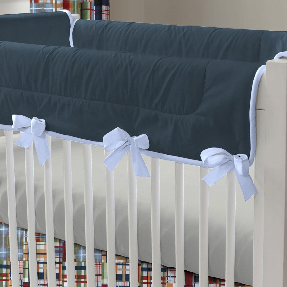 Product image for Patchwork Plaid Crib Rail Cover