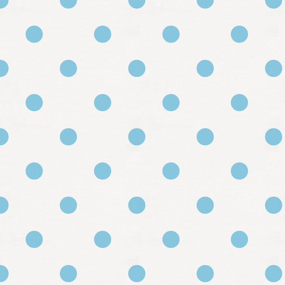 Product image for White and Lake Blue Dot Toddler Sheet Bottom Fitted