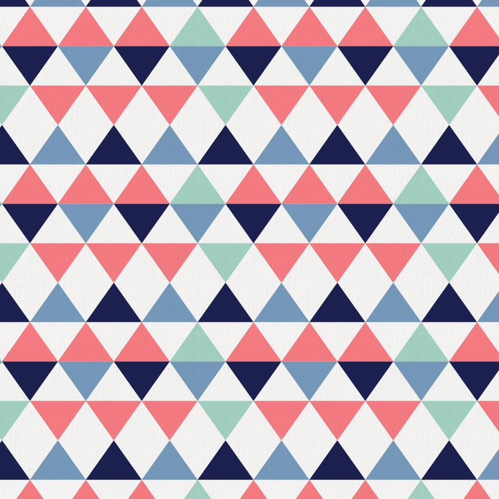 Product image for Coral and Mint Triangles Toddler Sheet Bottom Fitted
