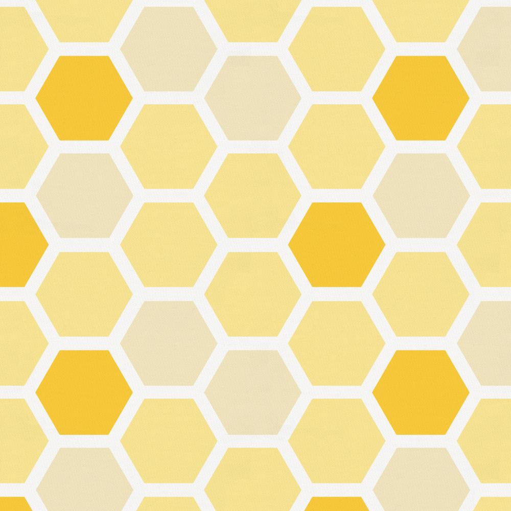 Product image for Yellow Honeycomb Toddler Sheet Top Flat