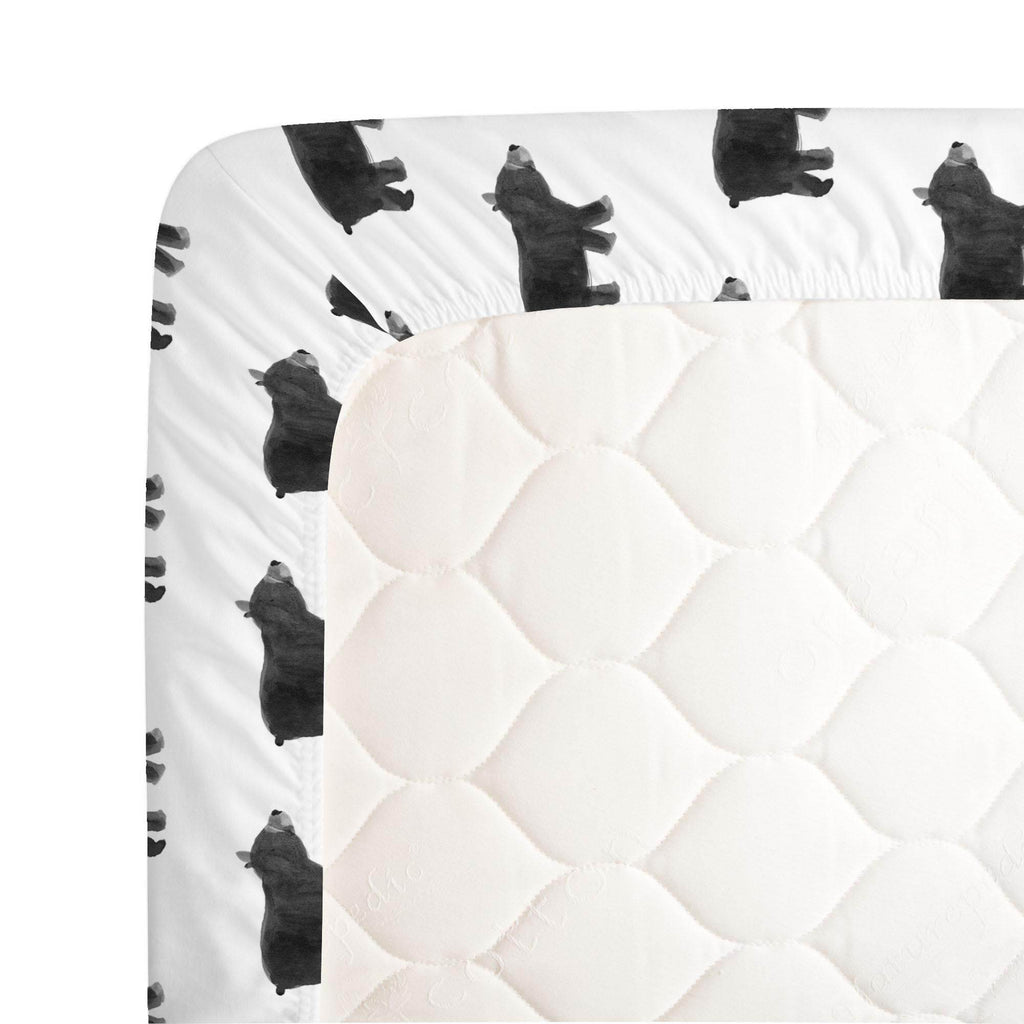 Product image for Gray Painted Bear Crib Sheet