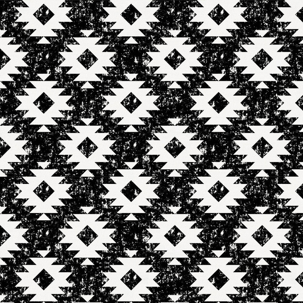 Product image for Onyx and White Aztec Toddler Pillow Case