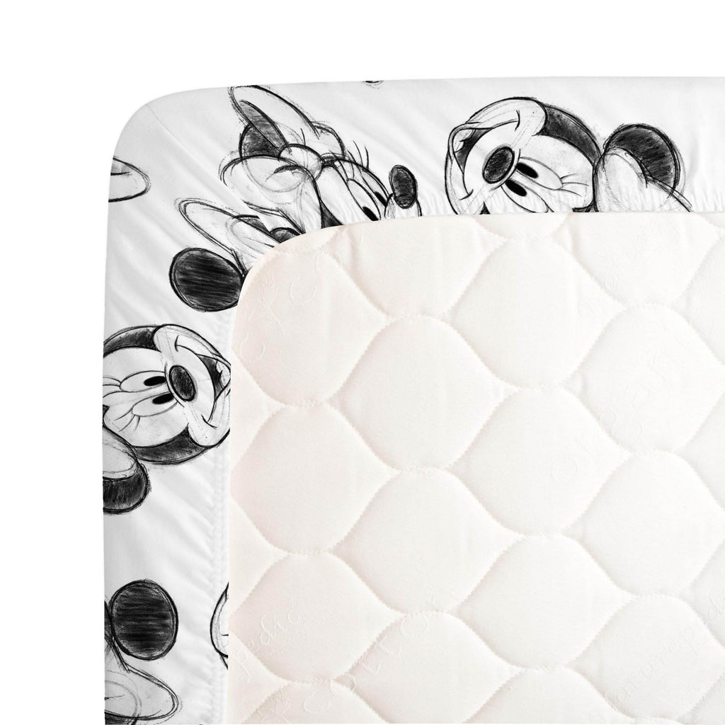 Product image for Disney© Charcoal Minnie Mouse Crib Sheet
